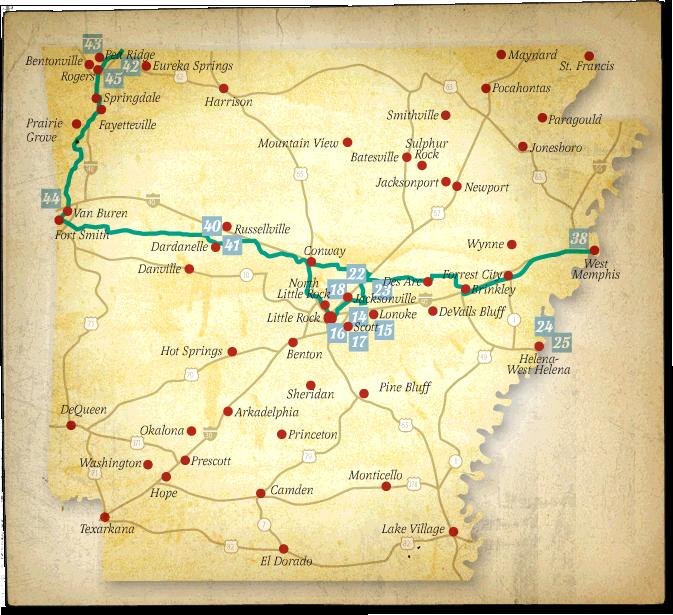Butterfield Overland Mail Trail - Butterfield Trail Map Arkansas ...