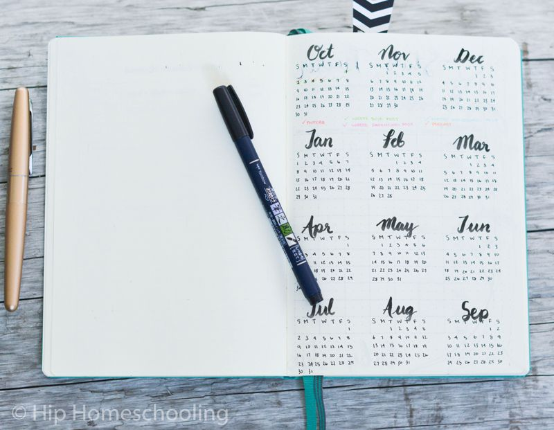 Color Journal Ideas : Setting up my business bullet journal