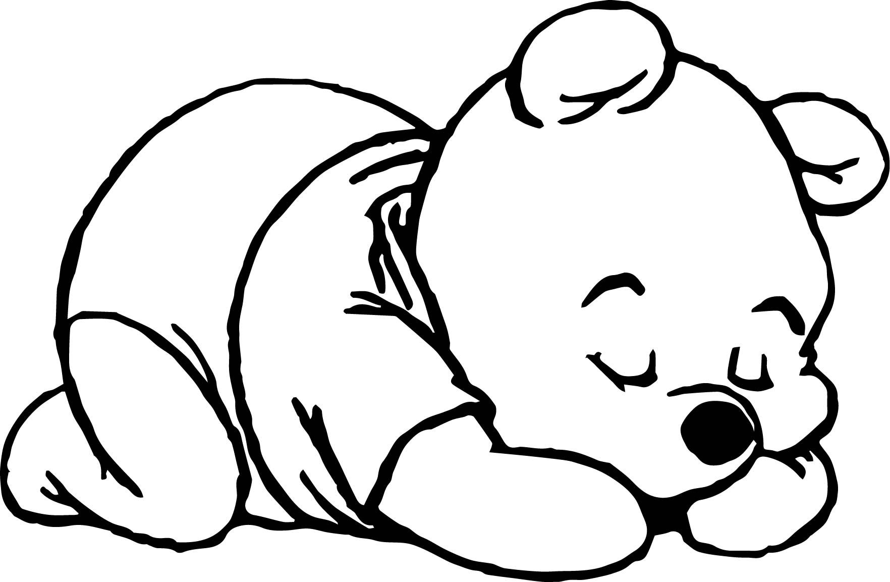 Cool Sleep Baby Pooh Coloring Page Bear Coloring Pages Stitch