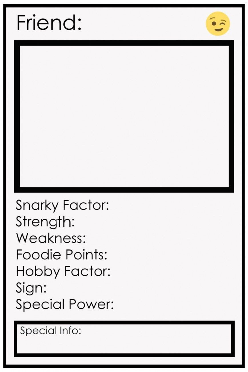 Blank Trading Card Template In 2021 Trading Card Template Card Template Report Card Template