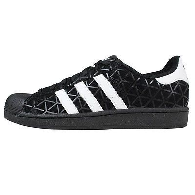 Adidas Superstar CP Mens F37610 Black White Triaxial Print Shell Shoes Size  12 42b4d3ad27
