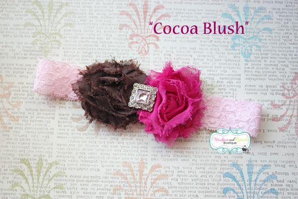 Cocoa Blush Shabby Headband