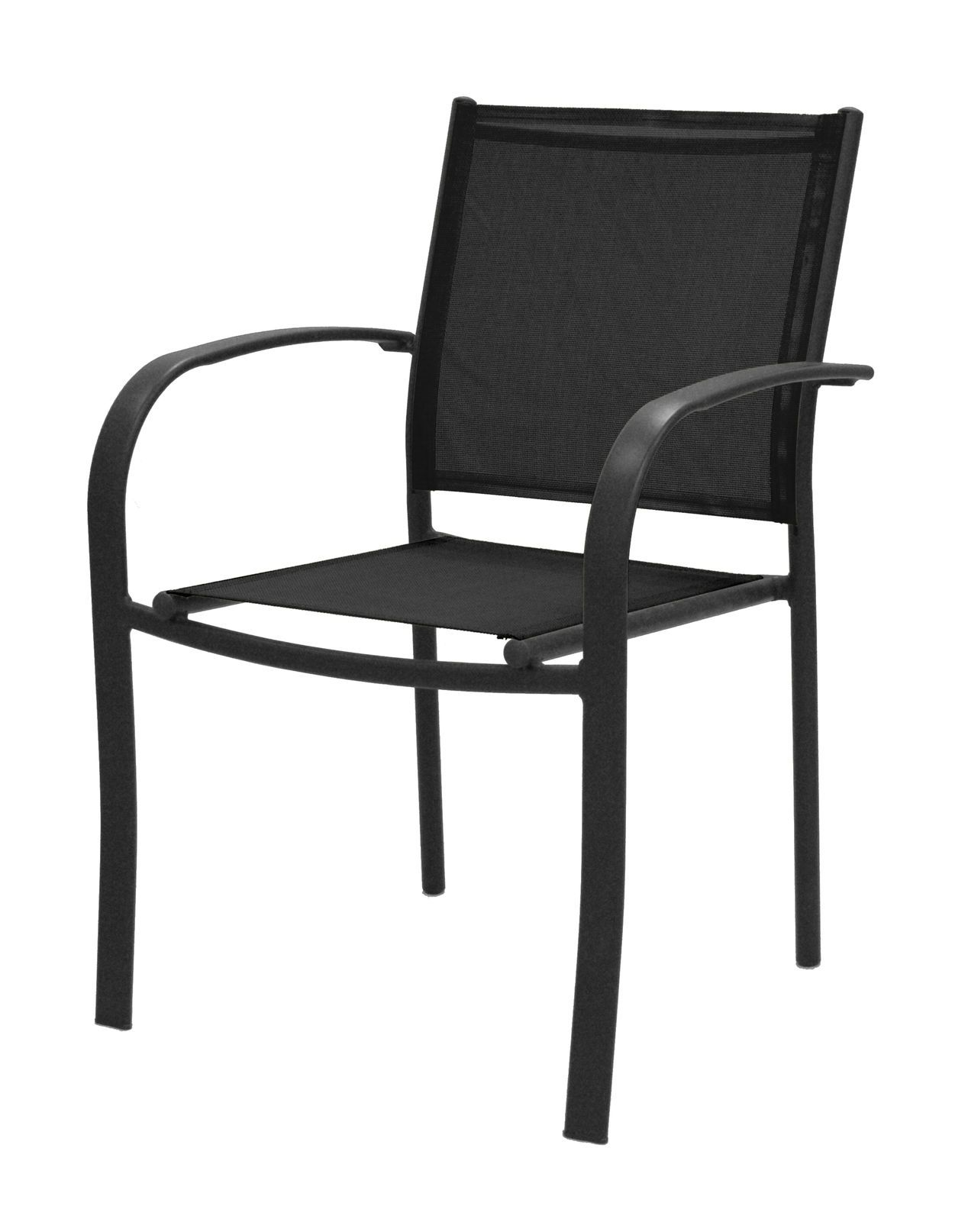 Black Sling Low-back Chair AT HOME STORE | Outdoor Room/Porch ...