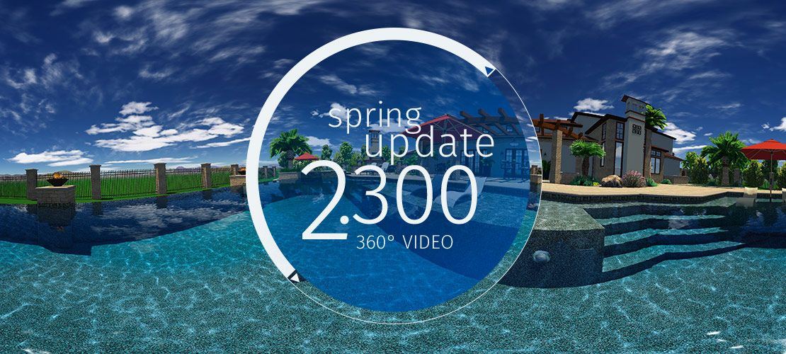 see whats new in our 360 degree pool and landscape design software update