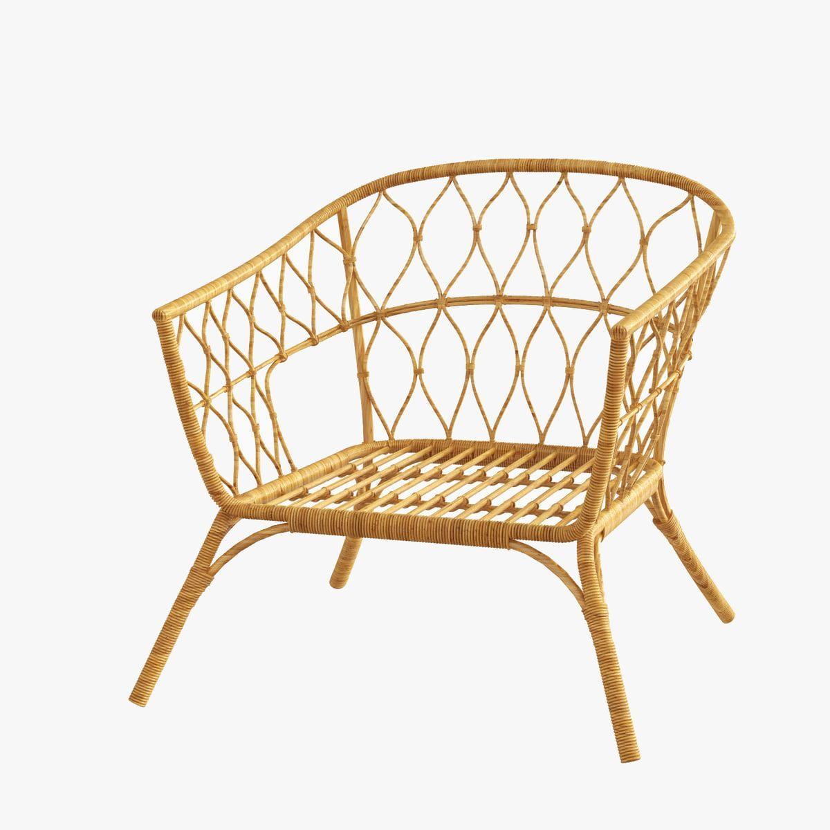 Superbe 3D Rattan Chair Ikea Stockholm   3D Model #RattanChair