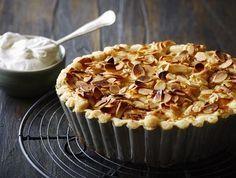 Æbletærte med marcipan...