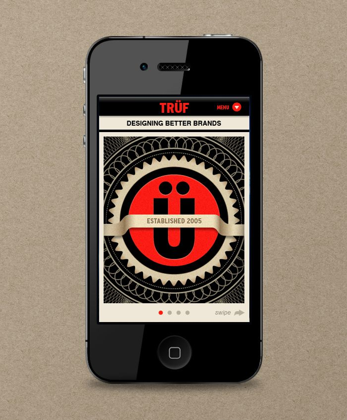 Truf mobile app. Really appealing!