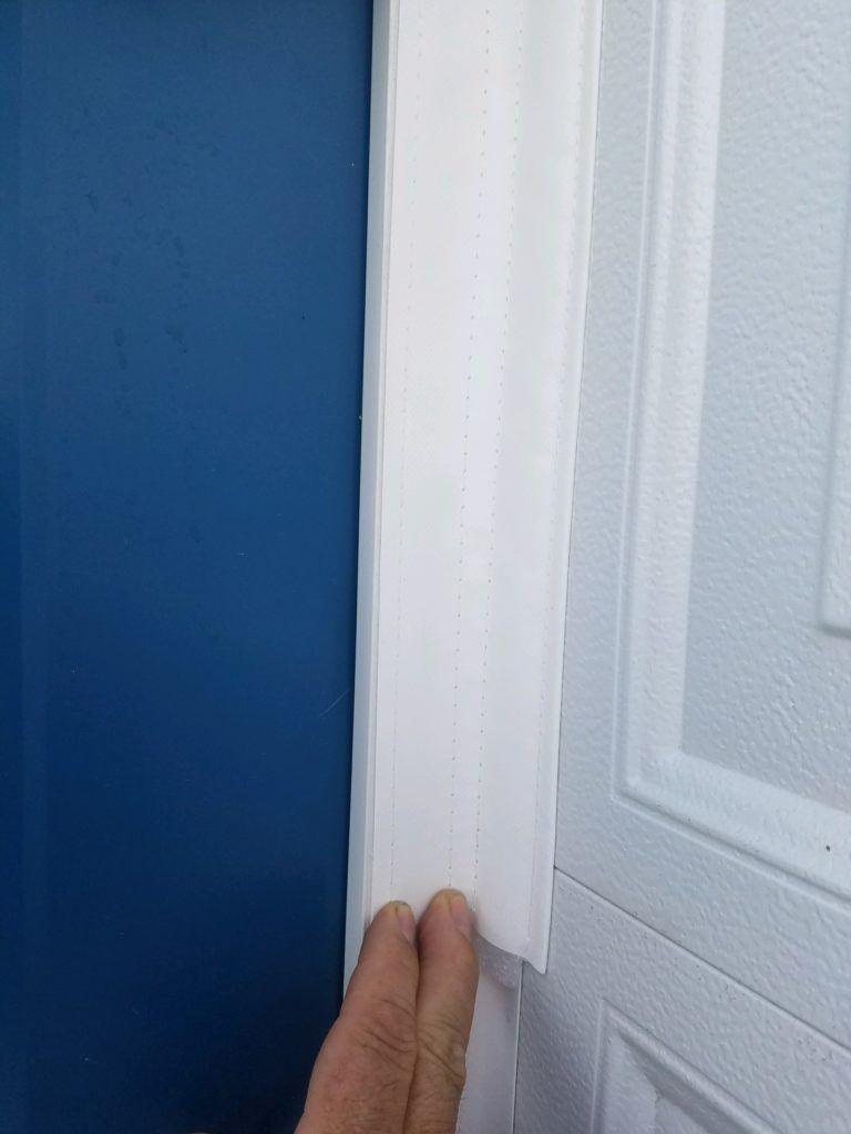 A Garage Door Seal Gap Seal And Threshold Seal That Mounts To The Inside Face Of The Door Instead Of The Garage Door Seal Garage Door Insulation Garage Doors