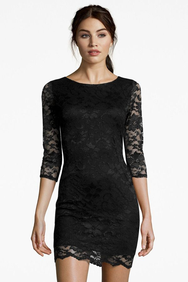 Womens Scalloped Lace Detail Dress Boohoo IasviMpOS
