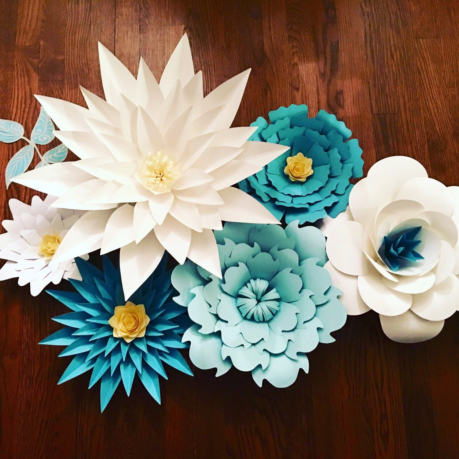 Giant Large Paper Flowers Drop Customizable