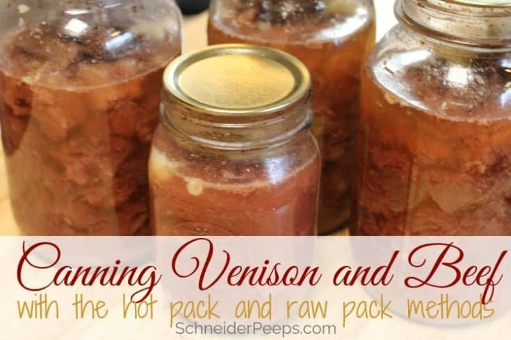 Canning venison with the hot pack method recipe