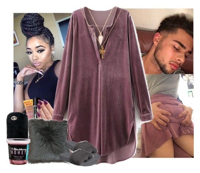 """""""Freaks come out at night 💅🏾"""" by jemilaa ❤ liked on Polyvore featuring Burt's Bees, Aesop, Thro, Steve Madden, Forever 21 and Mirabelle"""
