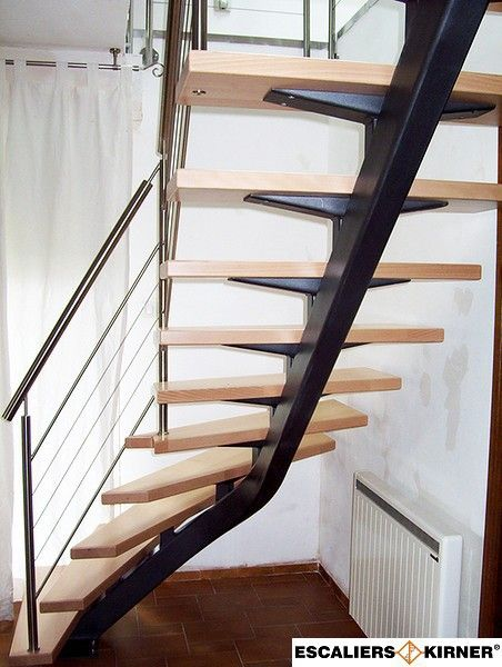 Escalier design limon central un quart tournant sur mesure ...