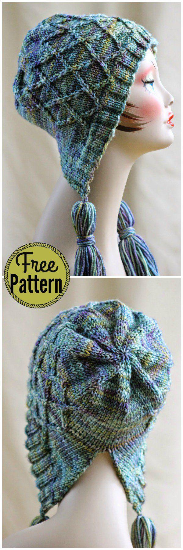 Iris Bloom Bonnet Free Knitting Pattern