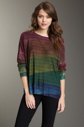 Go Couture LA Stripes Dolman Thermal by Jackets, Tops & More Starting At $10 on @HauteLook