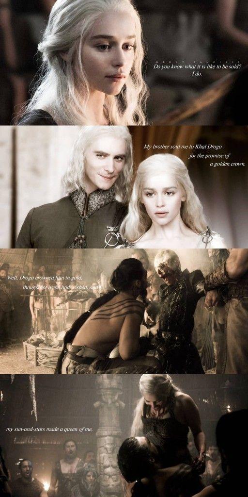 Daenerys, viserys and khal drogo