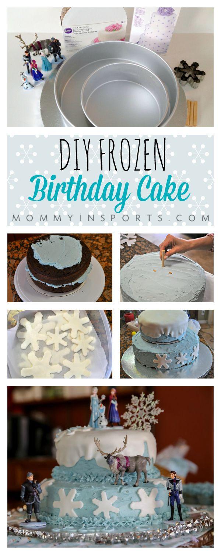 Diy Frozen Birthday Cake Frozen Birthday Frozen Birthday Cake