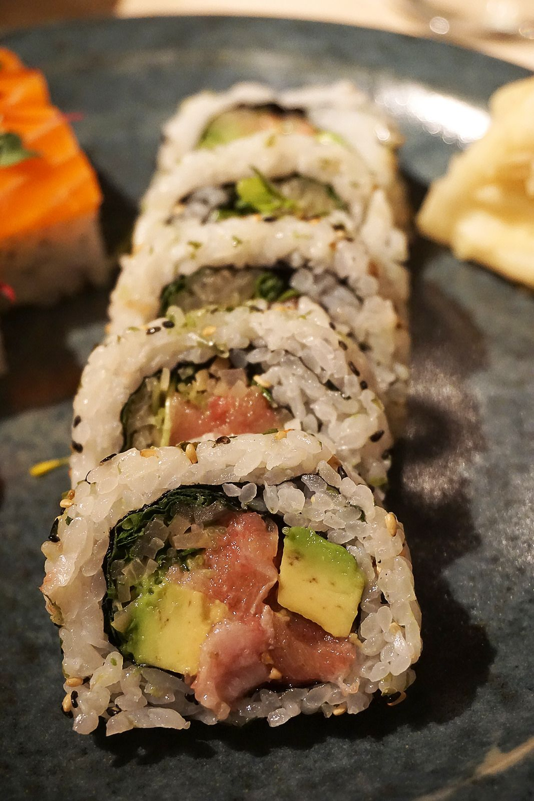 Fatty Tuna Maki Sushi Rolls At Sake No Hana Mayfair London