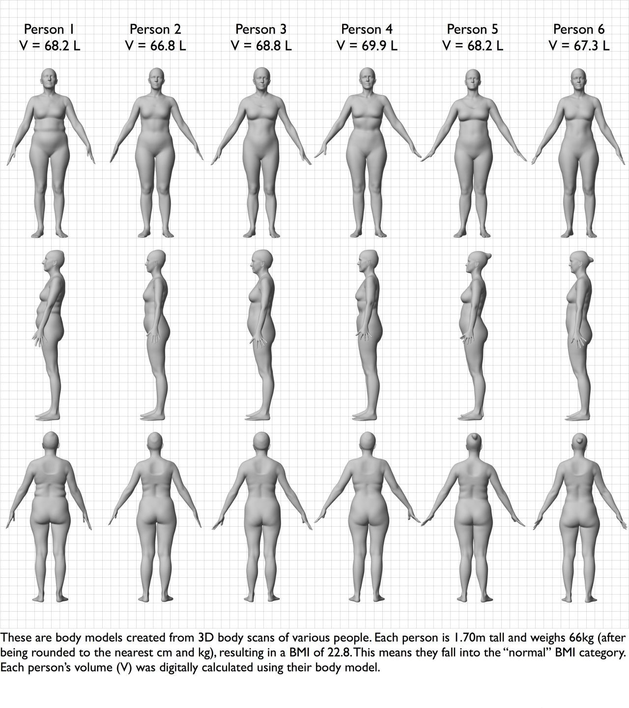 This chart shows how different women can look even with the same bmi same height same weight but they all have totally different bodies geenschuldenfo Gallery