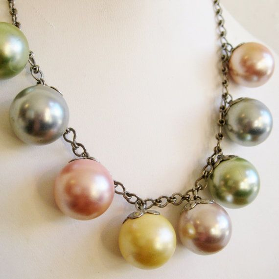 Vintage 50s Spring Pastels Bubble Gum Pink Ball by socaljewelbox, $44.00