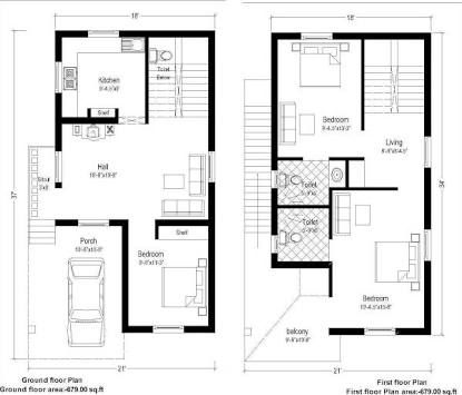 Image Result For 20 X 60 Homes Floor Plans 20x40 House Plans Duplex House Plans South Facing House