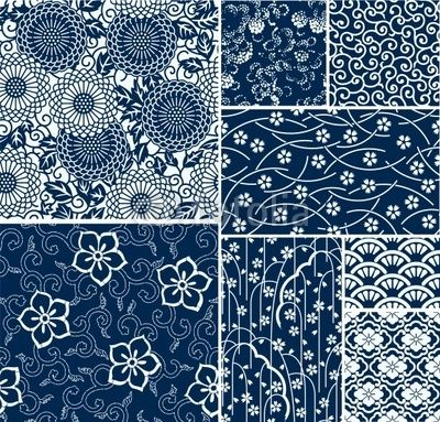 Traditional Japanese Seamless Vector Patterns Japanese Patterns Japanese Embroidery Pattern Art