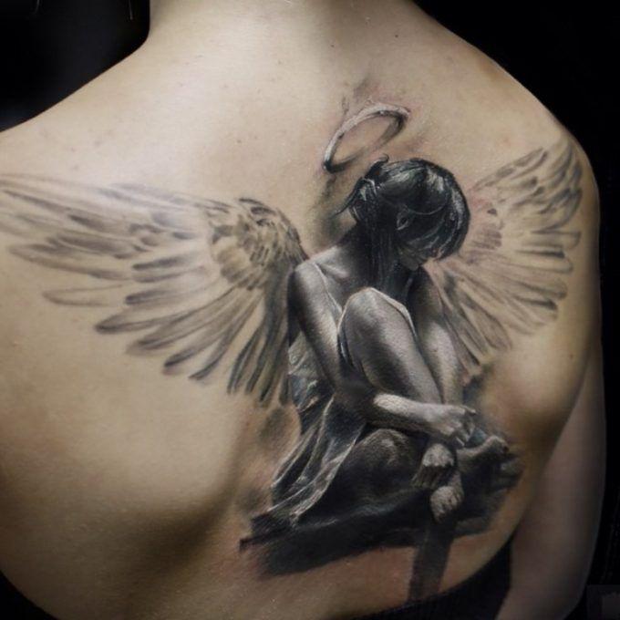 Realistic Fallen Angel Tattoo For Men Angel Tattoo For Women Angel Tattoo Designs Beautiful Angel Tattoos