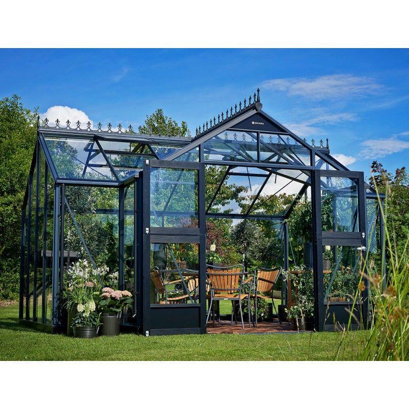Serre Orangery anthracite en verre trempé 15,2m² marque ...