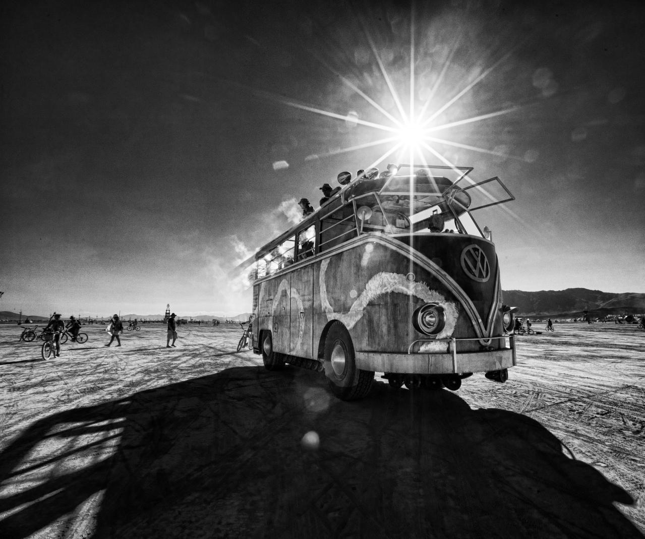 Volkswagen Transporter T2 #VW #car #hdr #bw