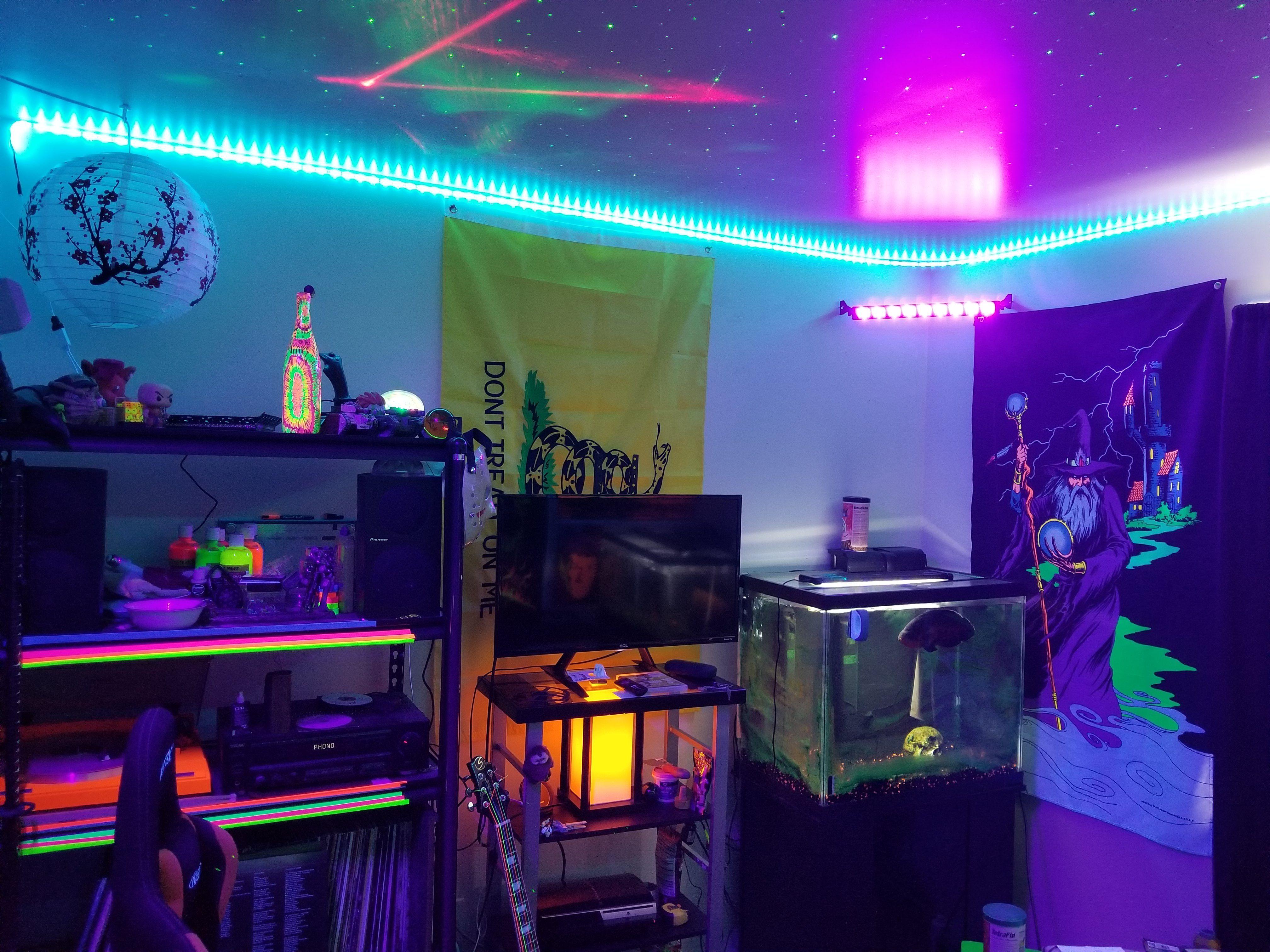Led Strip Light Bedroom Ideas Google Search Led Strip Lights Bedroom Neon Bedroom Led Lighting Bedroom