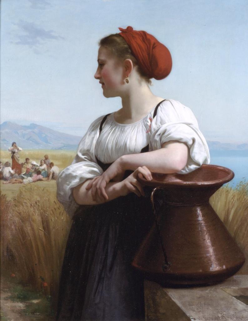 """""""Moissoneuse"""", c1868 William-Adolphe Bouguereau (1825-1905). French"""