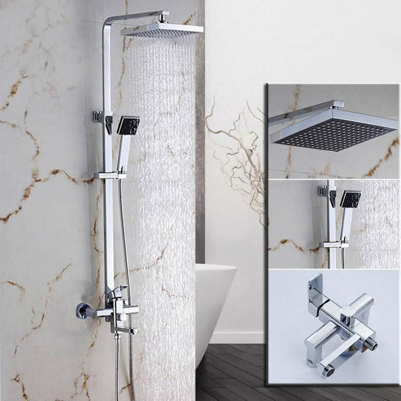 Photo of Wall Mount Rainfall Shower Head + Hand shower System