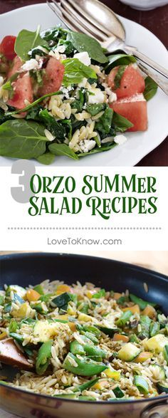 There's nothing better than a light salad on a hot summer day. Try one of these summer orzo salads tonight!