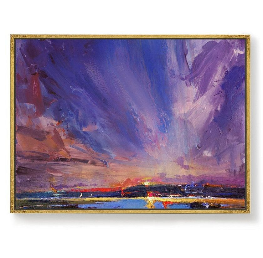 Original Painting Night View Of Coastline Sky Abstract Painting Coastal Landscape Painting Large Wall Sky Painting Night Sky Canvas Painting Sky Painting Night Painting Painting