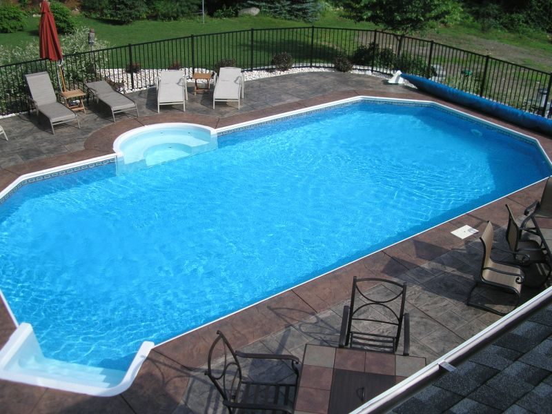 Something simple like this would be awesome too grecian for Simple inground pool designs