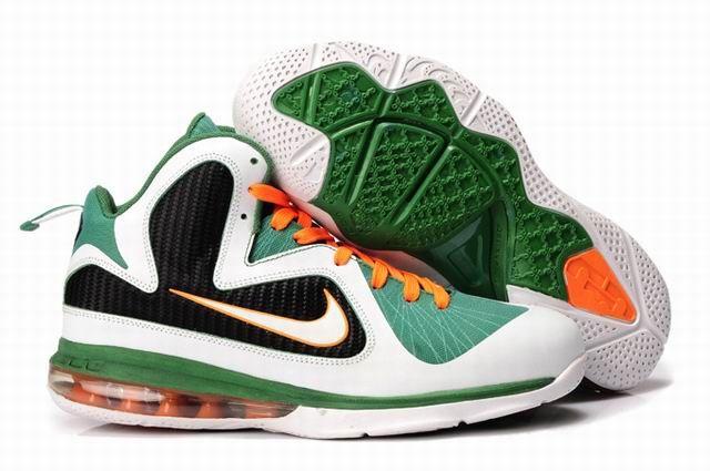 b45edebc624 Nike Lebron 9 Green Orange White