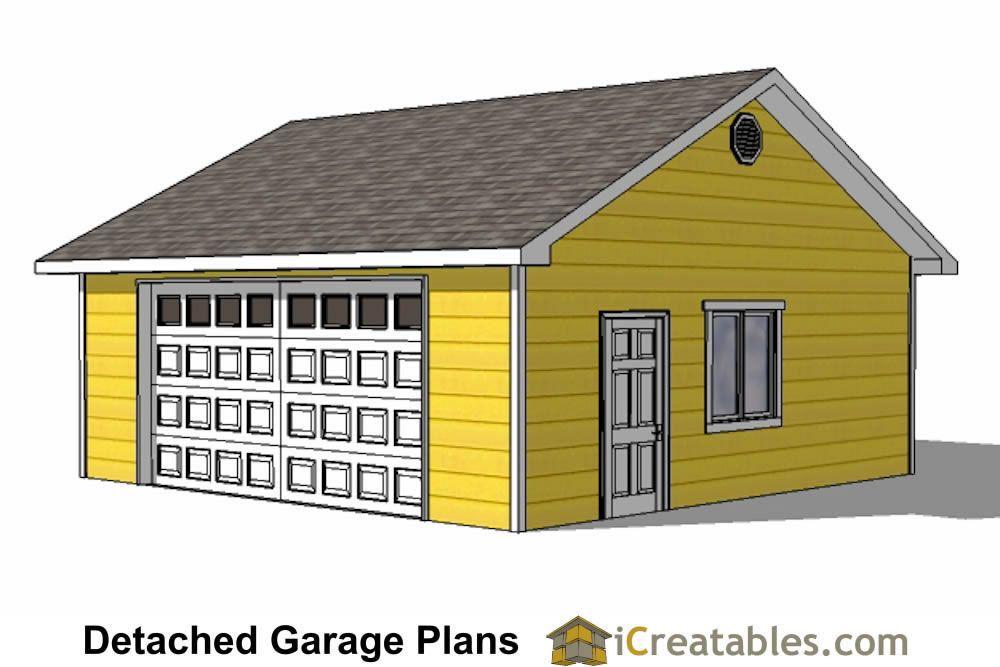 24x24 2 car garage plans Garage design, Garage plans