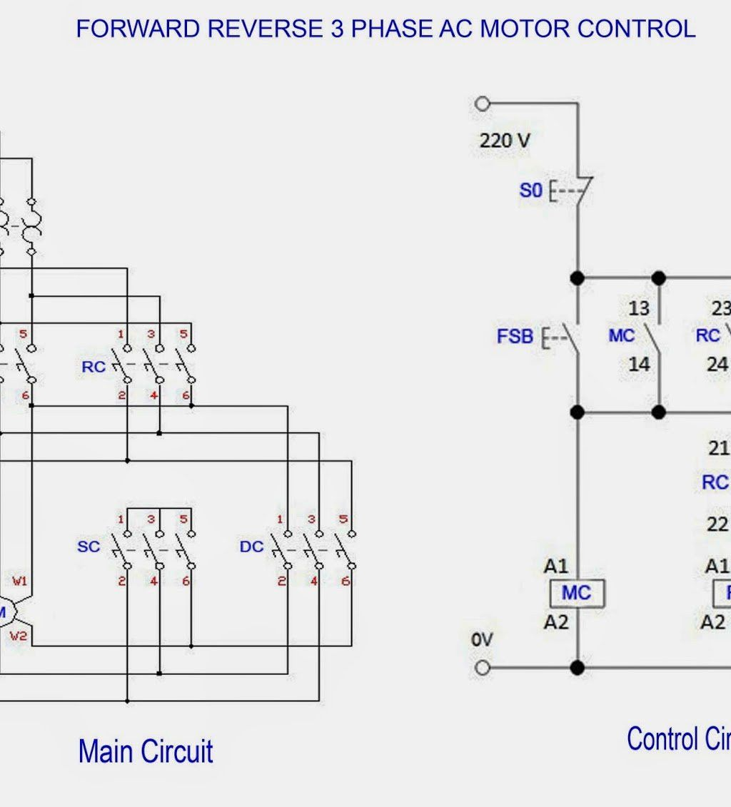 Wiring Diagram 3 Phase Star Delta Starter Forward Reverse