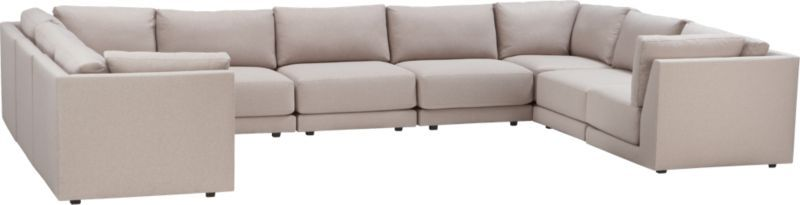 Moda 9 Piece Sectional Sofa Crate And Barrel Living Room
