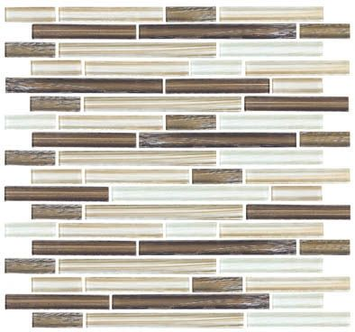 linear glass tile backsplash | Linear Glass Tile - GA4007 Bamboo Linen Glass Tile Linear Strips ...