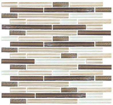 linear glass tile backsplash | Linear Glass Tile - GA4007 Bamboo Linen Glass Tile Linear Strips ...