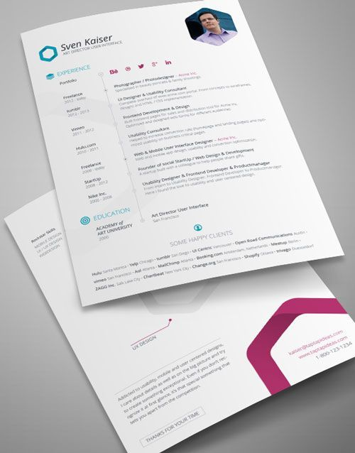 Resume Templates Indesign Simple Indesign  Pinterest  Template And Free
