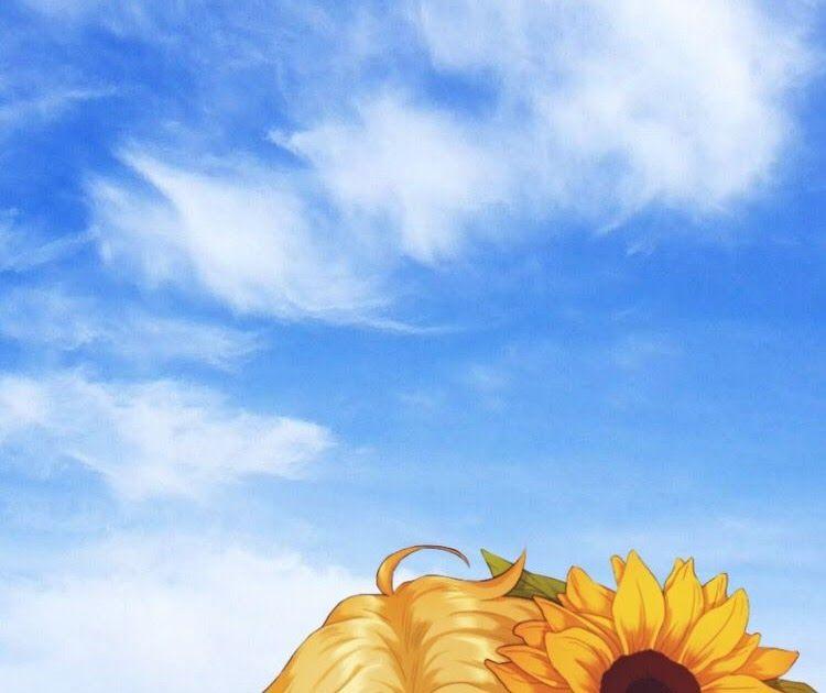 12 Wallpaper Anime Sun Flower Sunflower Anime Animeboy Animewallpaper Iphonewallpaper Sunflower Laptop W Sunflower Wallpaper Field Wallpaper Anime Wallpaper