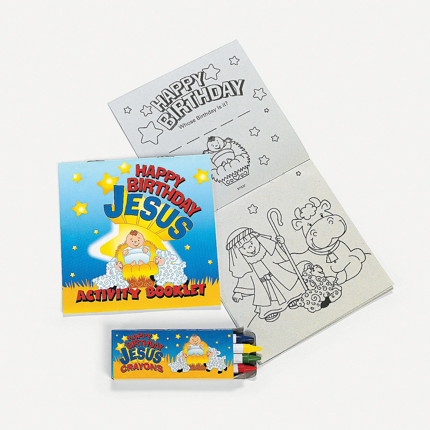 """Happy Birthday Jesus"" Activity Sets. Remember the reason"