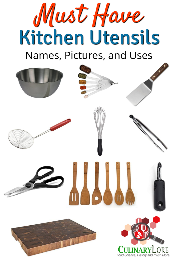 Must Have List Of Kitchen Utensils With Names Pictures And Uses