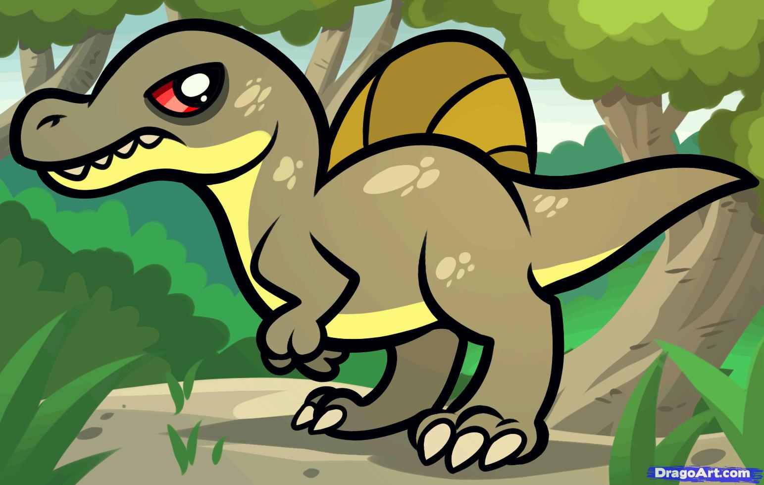 how to draw a spinosaurusdawn darko  dragoart