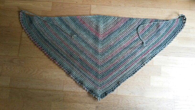 Lena's Road trip sjaal. 3.5 naald.