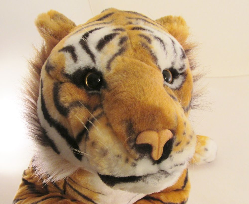 "Large 31""  Realistic Looking Plush Lying Bengal Tiger Stuffed Animal #geauxtigers #tigerlove #bengaltiger"