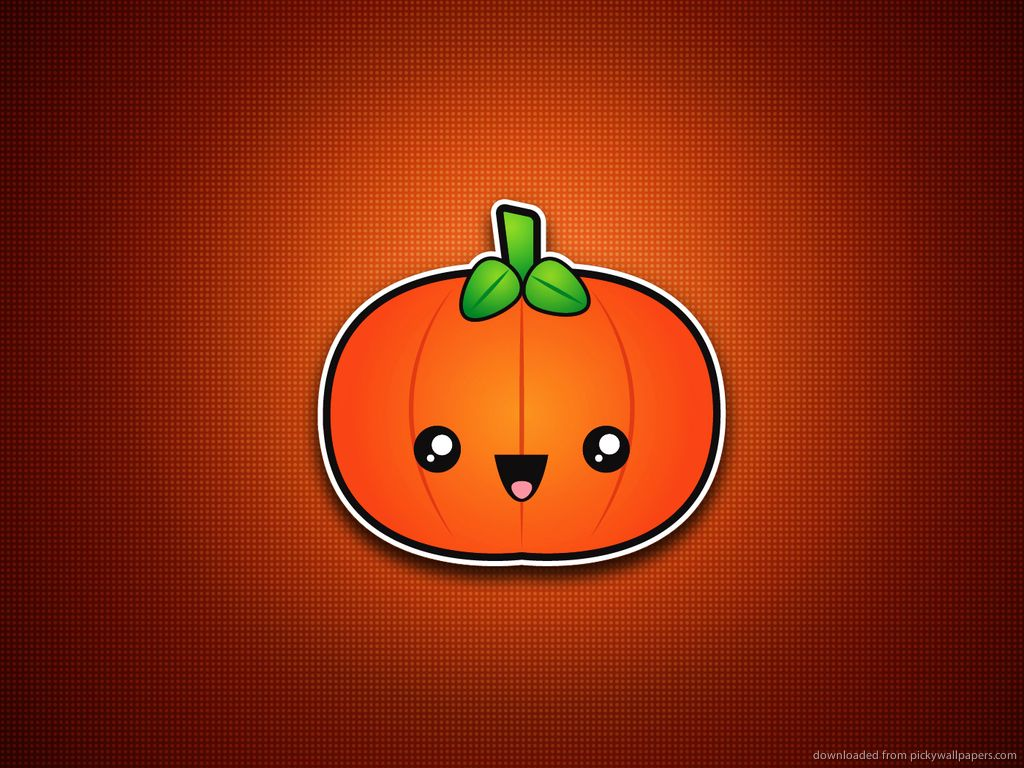 cute pumpkin Minimal/Simple Halloween Wallpapers