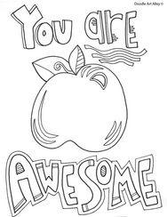 Teacher Appreciation Week  Coloring Pages  Classroom Doodles